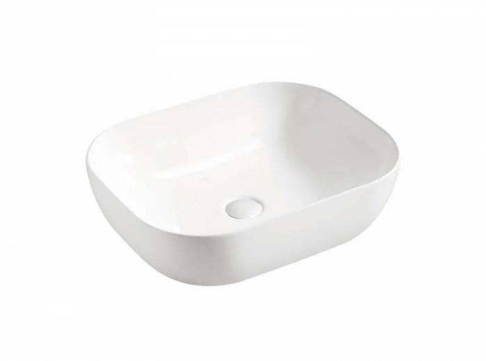 Lavoar cu montaj pe blat Smile 50x40x15 cm, ceramică, alb