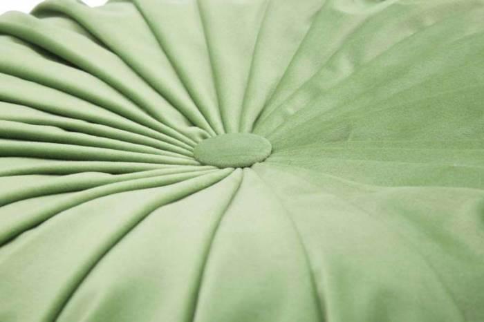Puf Glam, 25x48x48 cm, poliester/ polistiren, verde