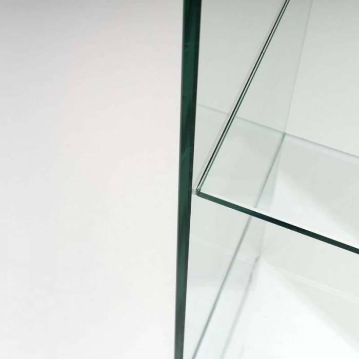Etajeră Bust, 149x38x41 cm, sticlă, transparent