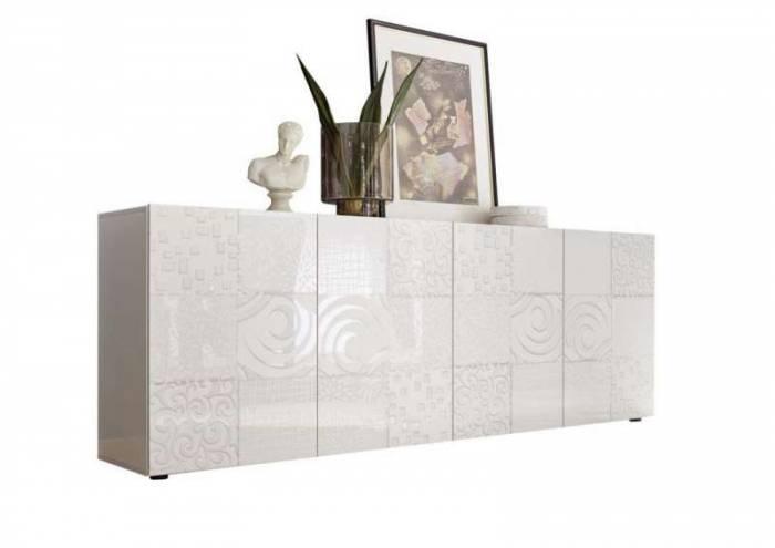Comodă Brez, 84x42x241 cm, melamină, alb