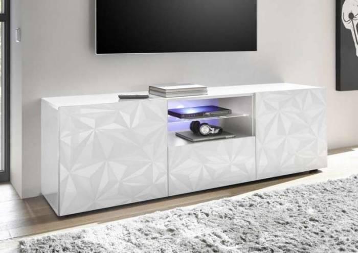 Comodă TV Praga, 57x42x180 cm, melamină, alb