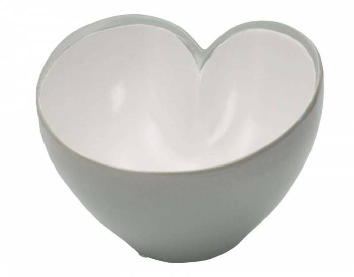 Bol Drop, 14x20x19 cm, ceramica , alb/ gri