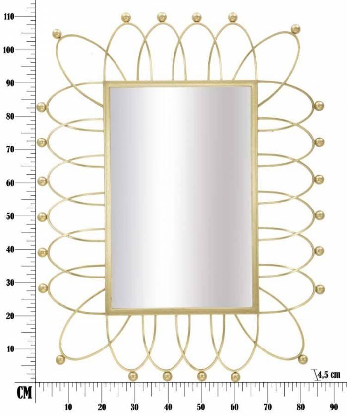 Oglindă de perete Amelie, 111x86.5x4.5 cm, metal/ sticla, auriu