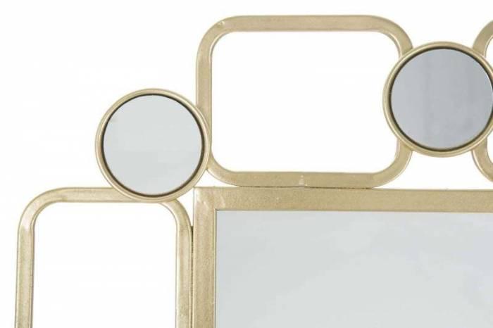 Oglindă de perete Glosh, 102x71x2 cm, metal/ sticla, auriu