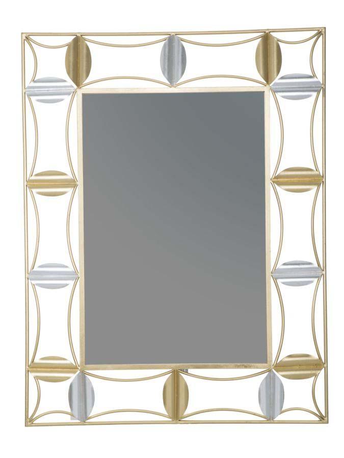 Oglindă de perete Leaf Glam, 112x86x3 cm, metal/ sticla, auriu