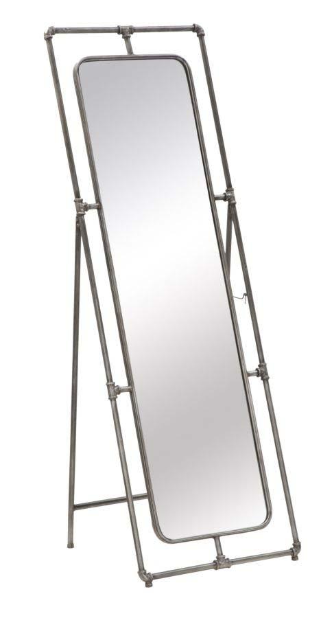 Oglindă de podea Tube, 153x53.5x50 cm, metal/ sticla, negru