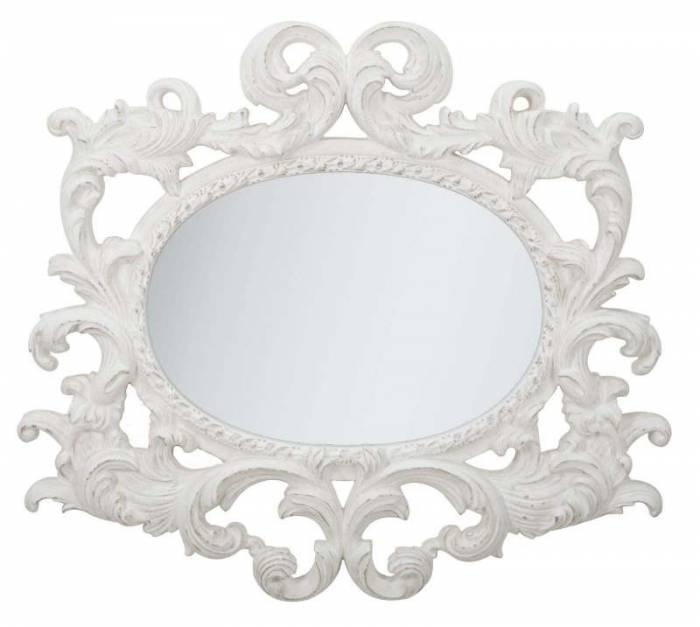Oglindă Siwt, 100x110x6.5 cm, polirasina, alb