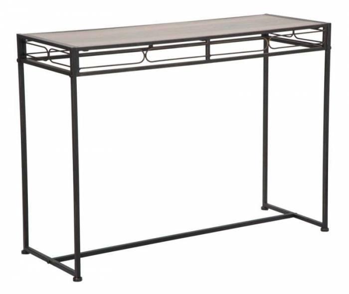 Consolă Essential, 80x110x40 cm, metal/ mdf, negru/ maro
